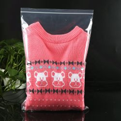 مصنع تصنيع المعدات الأصلية (OEM) ملابس مخصصة التغليف البلاستيك تخزين حقيبة كبيرة مزيّسة حقيبة الملابس المضغوطة للقفل بالسحّاب لـ LDPE
