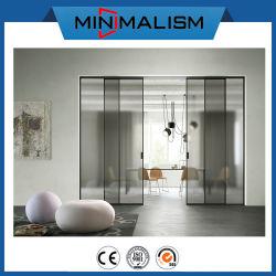Алюминиевые раздвижные двери с слоистого стекла с рисунком для управления