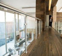 Secruity Edelstahl-Garten-Fechten und Zaun-Panel-Leitschiene-Schutz-Stab-rundes Pfosten-ausgeglichenes Glas-Geländer