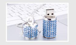Diamond цилиндрических кристально чистый флэш-накопитель USB ювелирный кристалл U диск