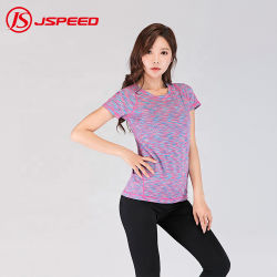 Gimnasio y fitness personalizado vestir la camiseta de entrenamiento ropa casual camisas perfecta ropa deportiva para mujeres