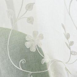 Дом в стиле Арт Деко цветочный декор высокого качества проектирования листьев вышивкой шторки Voile