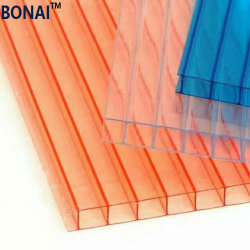 Lits jumeaux en polycarbonate transparent de haute qualité mur creux Feuille de PC