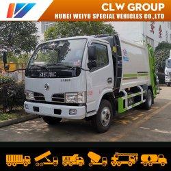 Vrachtwagen van de Pers van het Huisvuil van het Beheer van het Afval van de Lader van Dongfeng de Achter5m3 met de Prijs van de Fabriek