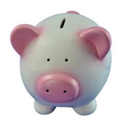 Очаровательный розовый поросенок деньги монеты банка в интересах детей денежные средства сбора данных