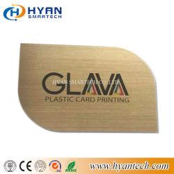 Kundenspezifische unregelmäßige Form Belüftung-Karte mit dem wahlweise freigestellten Lochen der Fertigkeit-Golden-Silver-Brush/UV-Printing/Hole