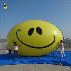 にこやかな表面が付いている楕円形の広告の気球PVC膨脹可能なヘリウムの気球