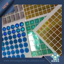 Etiket van het Hologram zelf-Ahesive van de Kleur van het Ontwerp van de douane het Weerspiegelende