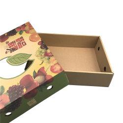 Venta caliente de la fruta de cartón caja de embalaje con el agujero