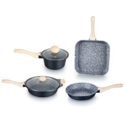 Посуда Non-Stick Die-Cast алюминия с помощью 6ПК