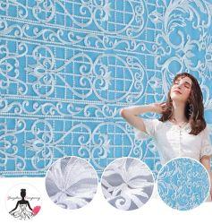 Vestido de Novia blanco de encaje bordado tul bordado plana tejido de malla