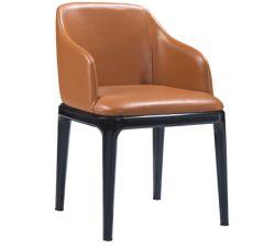 La tapicería de cuero Hotel/Banco sillón con la pierna de madera