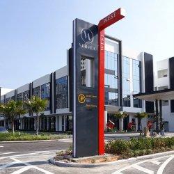 Professionnel personnalisé gratuit Parking extérieur en acier inoxydable permanent pylône signer
