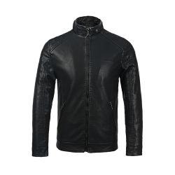 Enduire de mode de haute qualité veste en cuir de style de moto vestes occasionnel pour les hommes