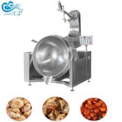 Calienta el gas de la sal de alta calidad de cacahuetes recubiertos de castañas de Cajú nueces almendras hacer máquina de procesamiento de fritura de tostado