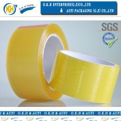 Nastro adesivo giallastro di colore BOPP per l'imballaggio della scatola (okh-p010)