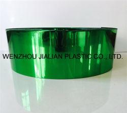 Película de PVC metalizado rígido/Hoja de ambos lados el color verde para decoraciones de Garland