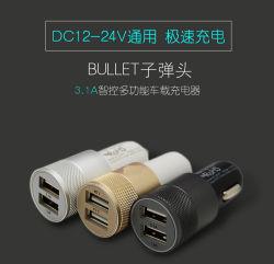 De dubbele 5V 3.1A Lader van de Auto USB voor iPad/Mobiele Telefoons Tablet/PC/All