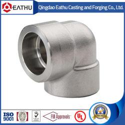 ANSI B16.11 من الفولاذ المطروق بزاوية 90 درجة لحام المقبس من النوع أو مسننة