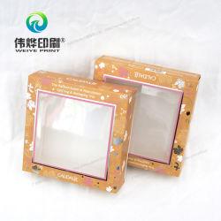 배경 포장 상자를 인쇄하기 위한 핫 스탬핑이 있는 원본 용지 상자
