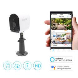 Het werken met Camera van kabeltelevisie IP van de Veiligheid van het Huis van het Toezicht van de Batterij 1080P HD draad-Vrije WiFi van de Visie van de Nacht van Wolken Alexa de Mini Draadloze