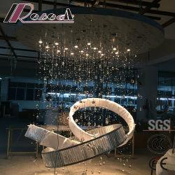 Projet personnalisé lampes Triangle cristal Strip Cercle lustre d'éclairage