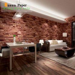 Simulation 3D des Ziegelstein-Muster-Entwurf Belüftung-Tapeten-Wand-Beschichtung-Tapete Belüftung-Papiers für Baumaterial Wallcovering