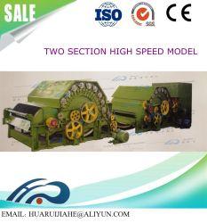 Seção única máquina de Granada/ dois e três seções Garneting máquina de reciclagem de limpeza da máquina antiga linha de produção de roupas, tecidos de resíduos de fibras químicas