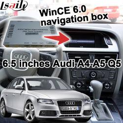 Zone de navigation GPS de l'interface vidéo pour Modèle Audi A4 09-16 6.5 pouces Win CE 6.0