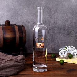 Frasco de vidro decorativo arte/garrafa de vinho de vidro transparente