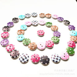 Láser pintadas de colores de moda los botones de madera