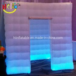 Globo insuflável luminoso branco cabina fotográfica de Log