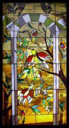 L'arte progetta la finestra per il cliente di vetro macchiata per la chiesa o la casa