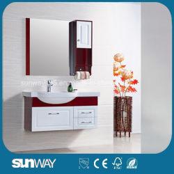 Governo di stanza da bagno moderno lucido di legno solido della quercia 2017 Sw-Wd0034W