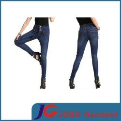 木のバックルの高いWaistedの背部伸縮性がある女の子のコードのジーンズ(JC1296)