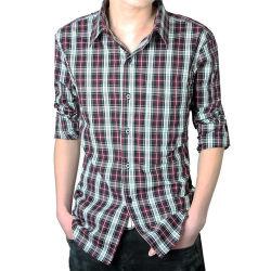 100% Viscose من قميص رجالي محبوك بشكل غير رسمي من الخيزران