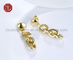 Atacado Popular alta qualidade 925 Prata ou bronze 18K Ouro Moda Plated Moda minimalista para mulher e Lady Jóias Gift Design brincos Jóias