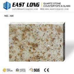 Coupé à la taille de pierre de granite Quartz artificielle de couleur avec des échantillons gratuits