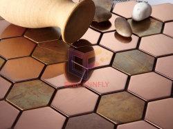 Mélanger en acier inoxydable de carreaux de mosaïque en cuivre pour Wall (CFM970)