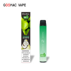نكهات إضافية مع أقراص ODM 2000 من المصنع الأصلي للمعدة (OEM) في الوقت نفسه سيجارة إسيغ فاب إي جديدة يمكن التخلص منها