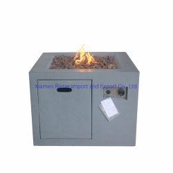 Im Freien speisender Gas-Feuer-Vertiefung-Tisch in konkretem Grc