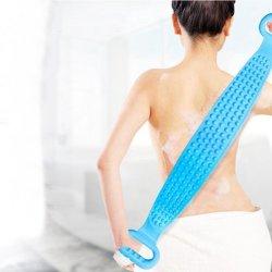 Banheira com chuveiro Escova do Corpo de Silicone, Correia de banho corporal esfoliante Correia da escova de lavagem, lavagem de esponjas de Exclusão de toalhas