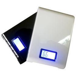 10000mAh de energia móvel portátil com visor LED de carga para iPhone, iPad e iPod