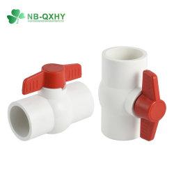 Nouveau compact PVC PVC de soupape clapet à bille en caoutchouc EPDM de soupape en plastique ABS avec poignée de soupape ou une douille filetée Hot ventes !