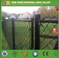 Maillon de chaîne de revêtement en PVC noir Clôture Barrière utiliser dans le jardin