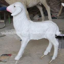 La taille de la vie des blancs en fibre de verre décoratif en résine pour la vente de sculptures de cerfs (GSR-110)
