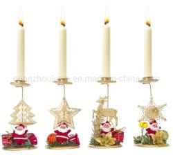 OEM 아이언 아트 산타클로스 크리스마스 장식 캔들 홀더스