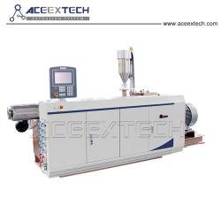 単一ねじ押出機プラスチックHDPE/LDPE/PEのガス管の押出機の生産ライン