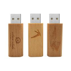 50pcs/lot Logo gratuit personnalisé lecteur Flash USB de bambou en bois de 32 Go 8 GO de 16go pendrive 4GO USB2.0