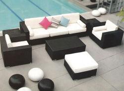 Мода оптовой открытый плетеной сад плетеной мебелью диван